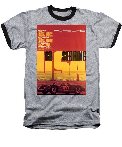 1966 Porsche 12 Hours Of Sebring Baseball T-Shirt
