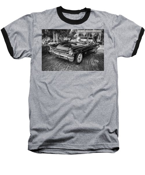 1967 Chevrolet Nova Super Sport Painted Bw 1 Baseball T-Shirt