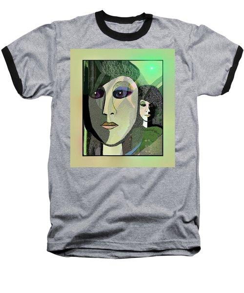 Baseball T-Shirt featuring the digital art 1968 - A Dolls Head by Irmgard Schoendorf Welch
