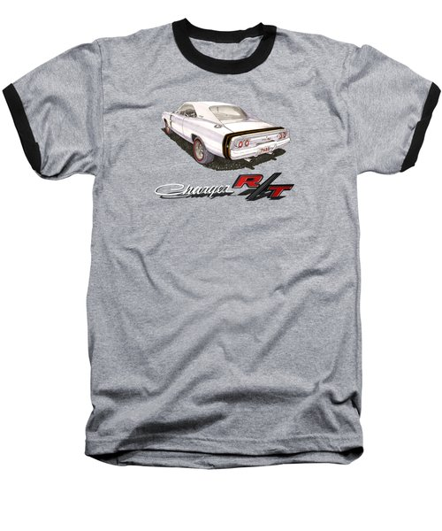 1968 Dodge Charger Tee Shirt Baseball T-Shirt by Jack Pumphrey