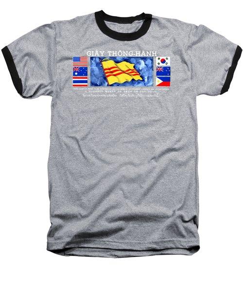 1968 Vietnam War Safe Conduct Pass Baseball T-Shirt