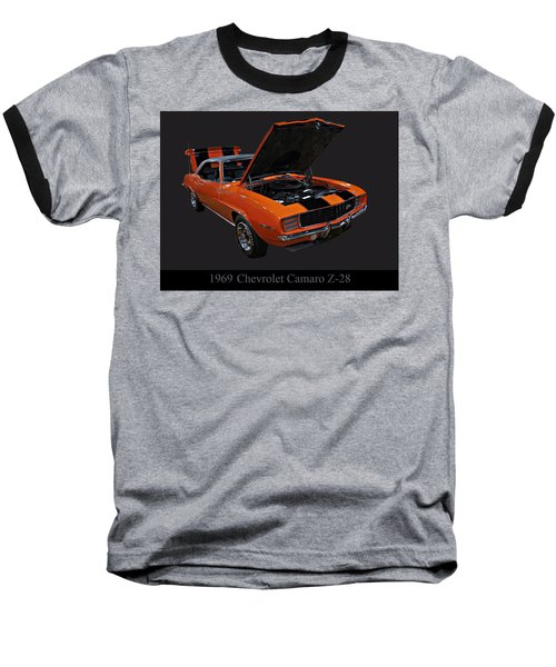 1969 Chevy Camaro Z28 Baseball T-Shirt