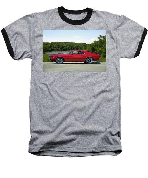 1969 Mustang Mach 1 Baseball T-Shirt by Tim McCullough