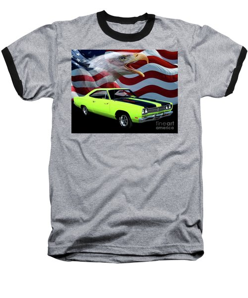 1969 Plymouth Road Runner Tribute Baseball T-Shirt