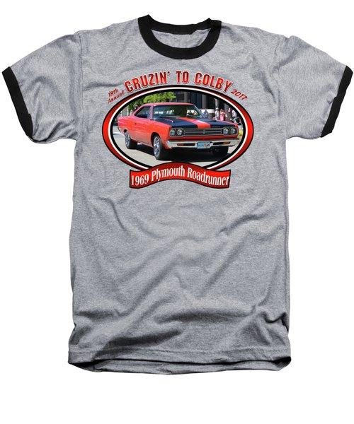 1969 Plymouth Roadrunner Masanda Baseball T-Shirt