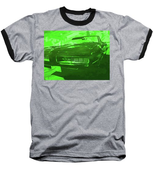 1969 Pontiac Gto Convertible Pop Green Baseball T-Shirt