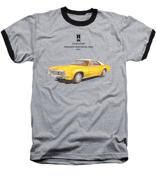1970 Oldsmobile Toronado Baseball T-Shirt by Jack Pumphrey