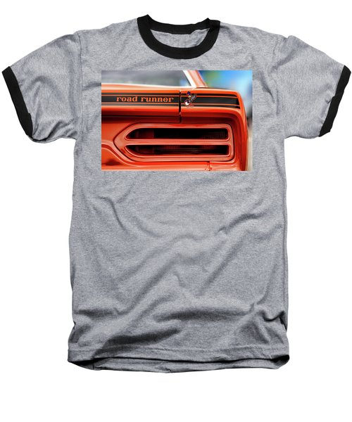 1970 Plymouth Road Runner - Vitamin C Orange Baseball T-Shirt by Gordon Dean II