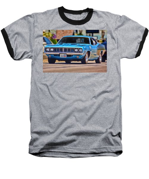 1971 Plymouth 'cuda 383 Baseball T-Shirt by Gordon Dean II