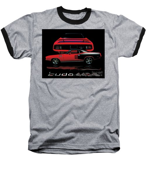 1971 Plymouth Cuda 440 Six Pack    Baseball T-Shirt by Peter Piatt