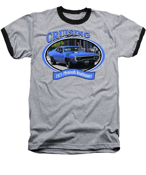 1971 Plymouth Roadrunner Hedman Baseball T-Shirt by Mobile Event Photo Car Show Photography