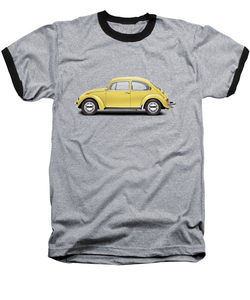 1972 Volkswagen Beetle - Saturn Yellow Baseball T-Shirt