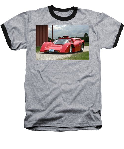 1974 Manta Mirage With Buick 215 Cubic Inch V8 Baseball T-Shirt by Tim McCullough