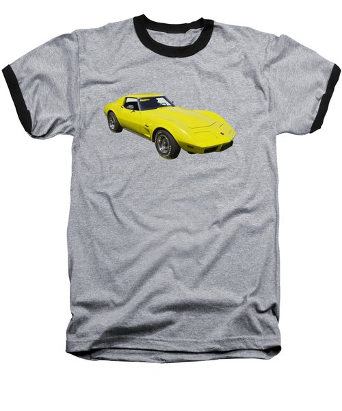 1975 Corvette Stingray Sportscar Baseball T-Shirt