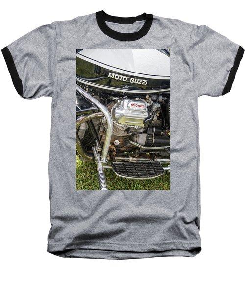 1976 Moto Guzzi V1000 Convert Baseball T-Shirt by Roger Mullenhour