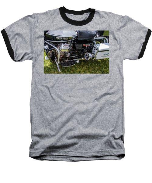 1976 Motto Guzzi V1000 Convert Baseball T-Shirt by Roger Mullenhour