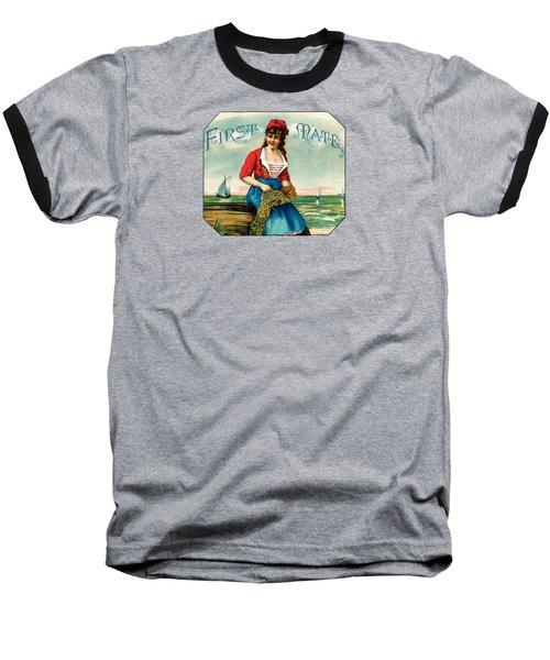 19th C. First Mate Cigars Baseball T-Shirt