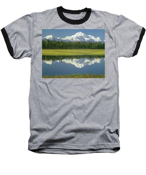 1m1325 Mt. Hunter And Mt. Denali Baseball T-Shirt
