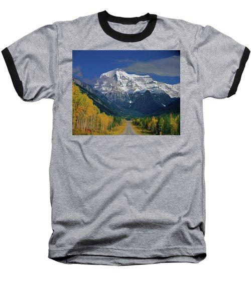 1m2441-h Mt. Robson And Yellowhead Highway H Baseball T-Shirt