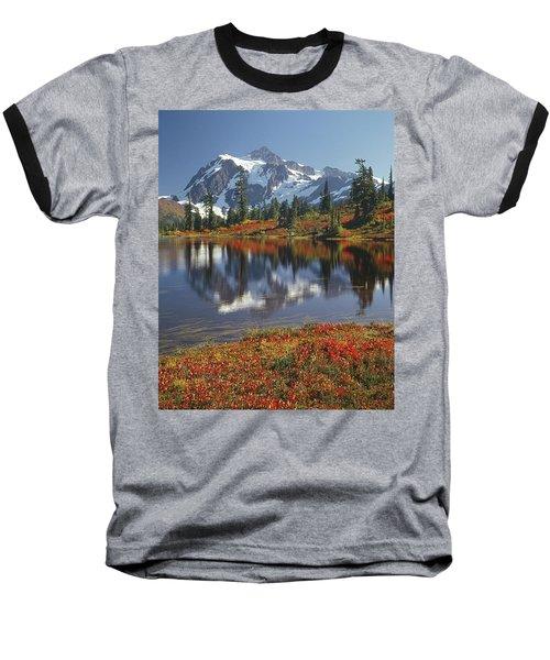 1m4208 Mt. Shuksan And Picture Lake Baseball T-Shirt