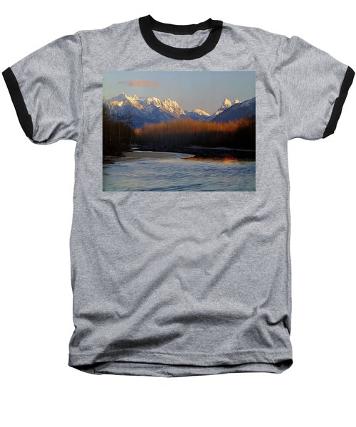 1m4525 Skykomish River And West Central Cascade Mountains Baseball T-Shirt