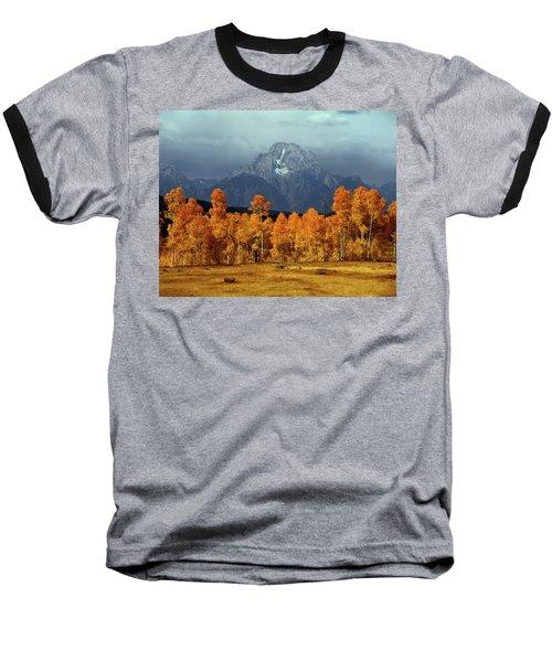 1m9235 Mt. Moran In Autumn Baseball T-Shirt