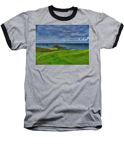 1st Green Cape Cornwall Golf Club Baseball T-Shirt