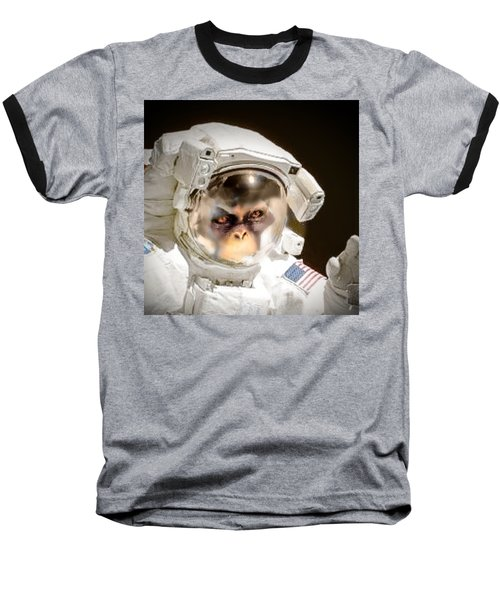 1st Into Space  Baseball T-Shirt by Scott French