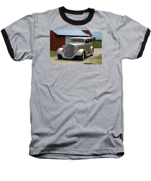 1934 Chevrolet Sedan Hot Rod Baseball T-Shirt by Tim McCullough