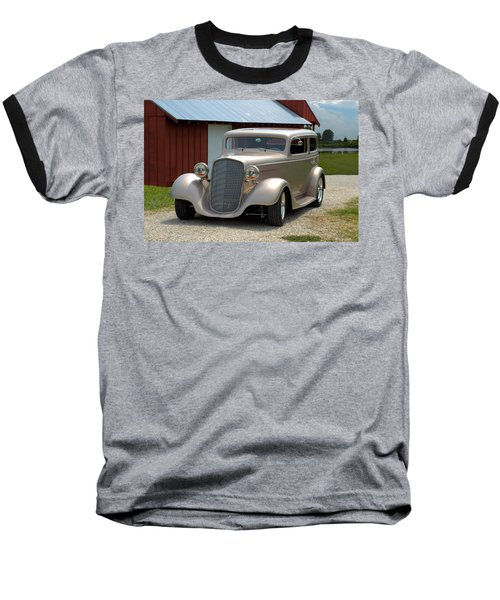 1934 Chevrolet Sedan Hot Rod Baseball T-Shirt