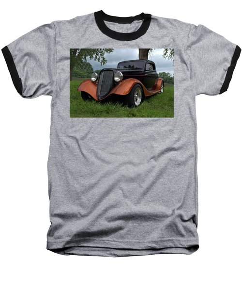 1934 Ford Hot Rod Coupe Baseball T-Shirt by Tim McCullough