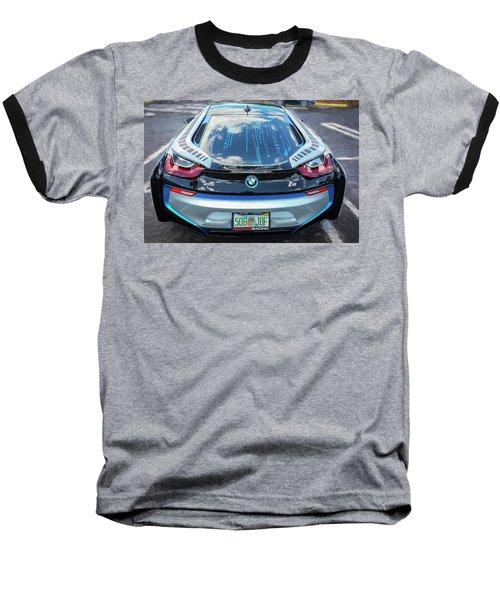2015 Bmw I8 Hybrid Sports Car Baseball T-Shirt by Rich Franco