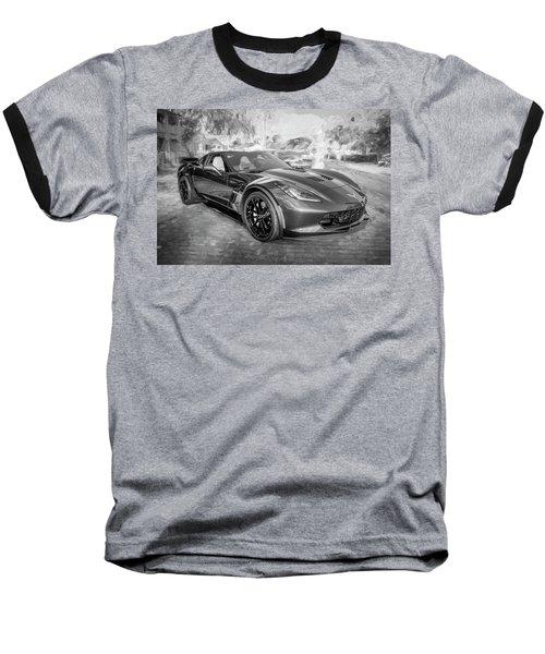 2017 Chevrolet Corvette Gran Sport Bw Baseball T-Shirt by Rich Franco