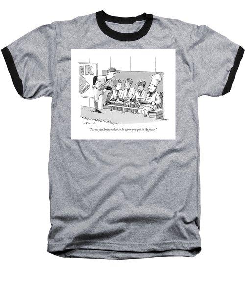 A Coach Is Standing By A Baseball Dugout Baseball T-Shirt