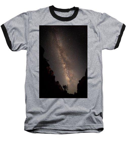 A Dark Night In Zion Canyon Baseball T-Shirt
