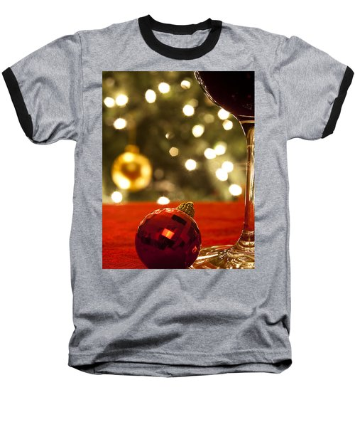 A Drink By The Tree Baseball T-Shirt by Andrew Soundarajan