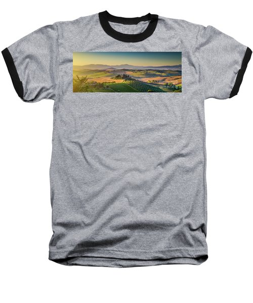 A Golden Morning In Tuscany Baseball T-Shirt by JR Photography