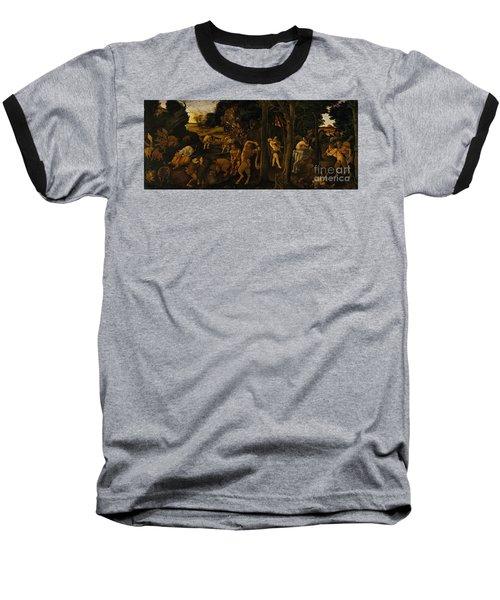 A Hunting Scene Baseball T-Shirt