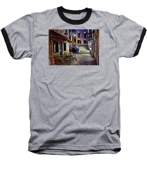 An Evening In Venice Baseball T-Shirt by Frozen in Time Fine Art Photography