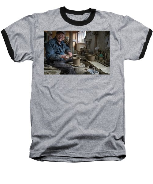 Baseball T-Shirt featuring the photograph A Village Pottery Studio, Japan by Perry Rodriguez