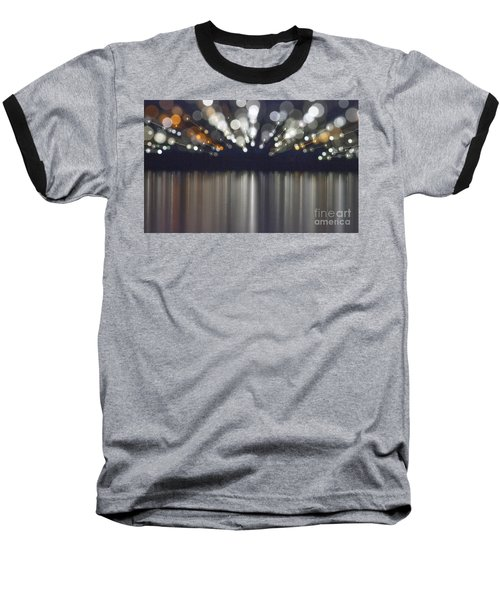 Abstract Light Texture With Mirroring Effect Baseball T-Shirt