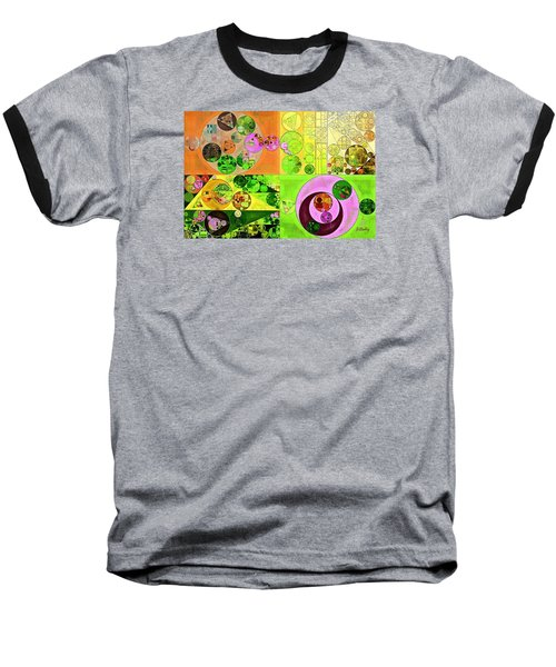 Abstract Painting - Turtle Green Baseball T-Shirt