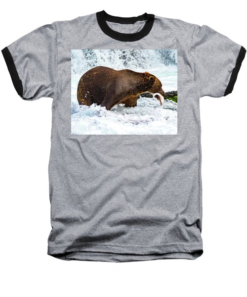 Alaska Brown Bear Baseball T-Shirt