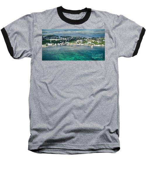 Ambergris Caye Aerial View Baseball T-Shirt