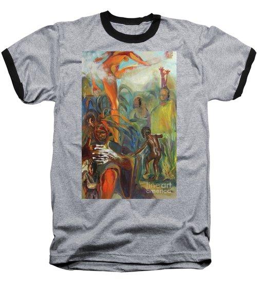 Ancestor Dance Baseball T-Shirt by Daun Soden-Greene