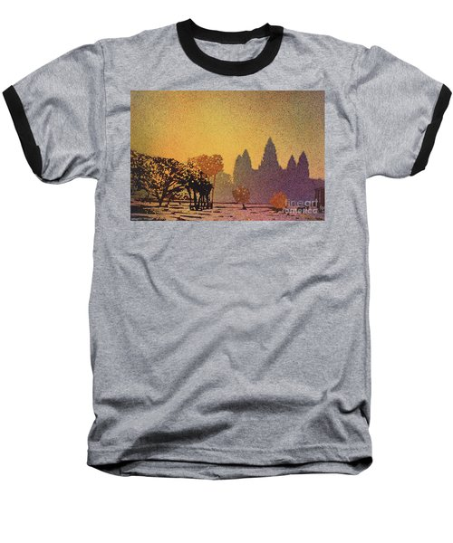 Angkor Sunrise Baseball T-Shirt by Ryan Fox