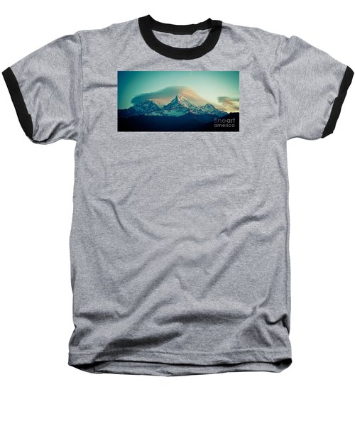 Annapurna South At Sunrise In Himalayas Artmif Photo Raimond Klavins Baseball T-Shirt