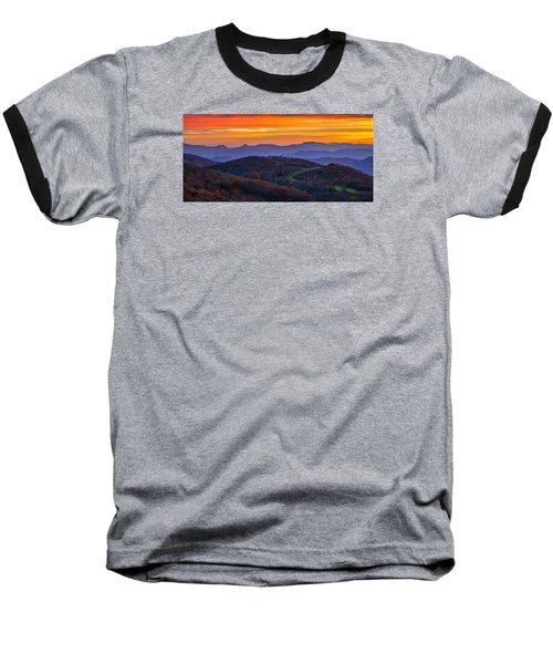 Appalachian Sunrise Baseball T-Shirt by Serge Skiba