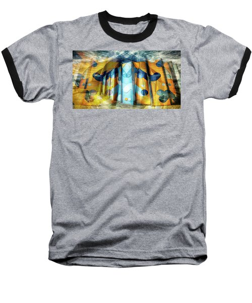 Baseball T-Shirt featuring the photograph Architectural Abstract by Wayne Sherriff
