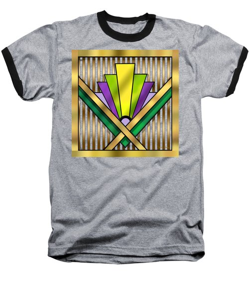 Art Deco 14 Transparent Baseball T-Shirt by Chuck Staley